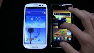Samsung Galaxy S III vs. Motorola DROID RAZR MAXX Dogfight Part 1