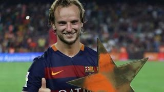 Rakitic gol increible tiro desde fuera del area FC Barcelona vs AS Roma 3-0 06/08/2015