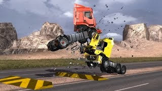 Part 1 - Volvo FH VS Renault Premium - Crash Test - Head-on collision/Side impact