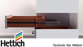 Features + dimensions of ball-bearing part ext. runners, 17mm groove: Do-It-Yourself with Hettich
