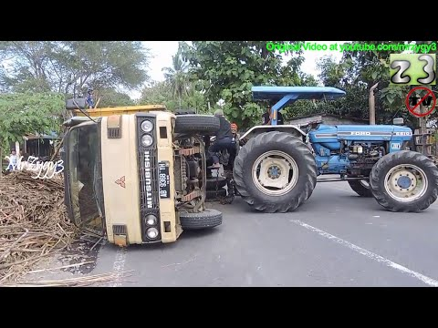 Truck Accident Recovery By Ford Tractor