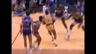 Byron Scott 30 points/6 steals/ 1 poster dunk vs.Suns (1989 Playoffs Game 2)