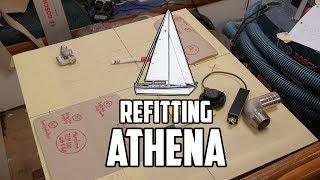 Sail Life - Finalizing the diesel tank design and tucking in Athena - DIY boat repair