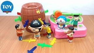 đồ chơi Doremon - Nobita chơi đập thú và đâm hải tặc lucky stab