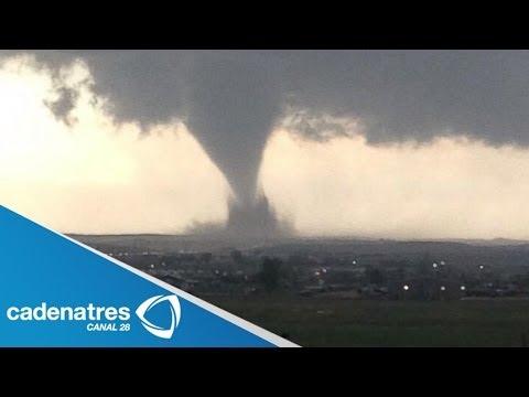 IMPRESIONANTES imágenes de un tornado en Dakota, Estados Unidos