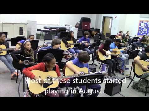 Trickum Middle School Guitar Morning Announcement 2013-2014 Video 2