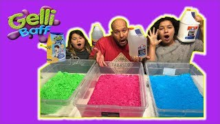 DIY 3 GALLONS OF CLOUD SLIME USING GELLI BAFF  - HOW TO MAKE AMAZING CLOUD SLIME
