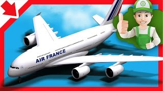 Avión Dibujos animados. Avión Para los niños. Dibujos animados infantiles educativos en español
