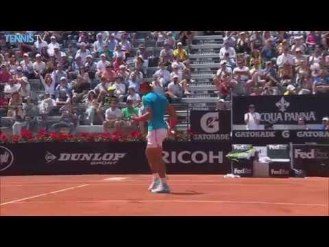 Rafael Nadal Hot Shot Rome 2015 vs. John Isner