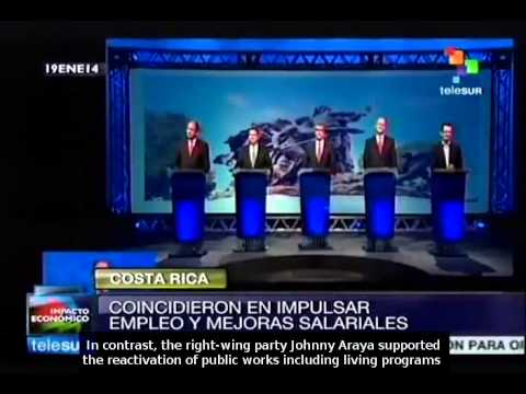 Costa Rica presidential candidates debate as election nears