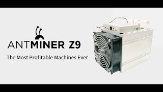 Antminer Z9 mini unboxing and setup. 6/22/18 12,000 sol's