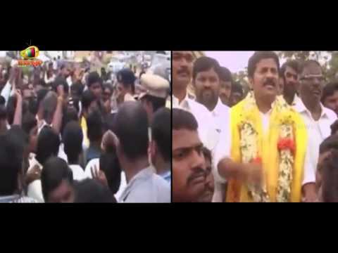 Revanth Reddy Aggressive Speech | Challenge to KCR | Kodangal Market Yard Agitation | Mahbubnagar Photo Image Pic