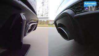 Facelift A45 AMG vs. Audi RS3 - RACE & SOUND (60FPS)