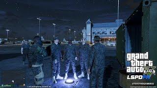GTA 5 - LSPDFR - EPiSODE 74 - LET'S BE COPS - MILITARY PATROL (GTA 5 PC POLICE MODS) HUMVEE