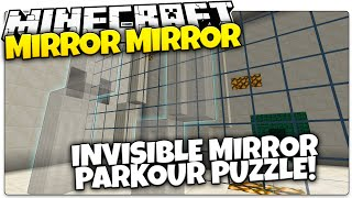 Minecraft | Mirror Mirror! | Use Mirrors To Jump On Invisible Blocks! (Minecraft Custom Map)