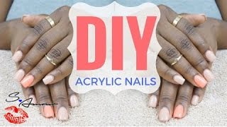 DIY | APPLY ACRYLIC OVERLAY TO NATURAL NAILS AT HOME