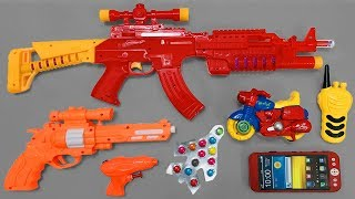 Realistic AK47 Toy Gun  Many Colored Toys Equipment from Box of Toys