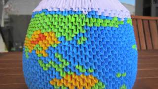 3d Origami Globe