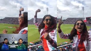 India Vs Pakistan | Rakul preet singh Crazy Cheering for Team India | Filmylooks