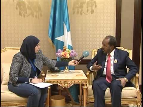 Exclusive Interview with Hassan Sheikh Mohamoud, Somali President, during 25th Arab League Summit