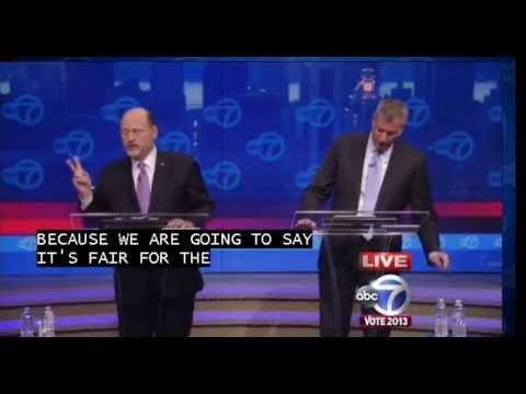 New York City Mayoral Debate (Pt 3) - Bill de Blasio vs Joe Lhota Debate 2013