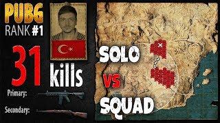 [Eng Sub] PUBG Rank 1 - ArmuttTV 31 kills [EU] Solo vs Squad TPP -PLAYERUNKNOWN'S BATTLEGROUNDS #240
