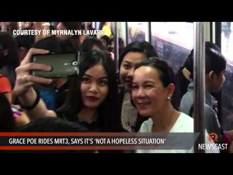 Grace Poe rides MRT3, says it's 'not a hopeless situation'