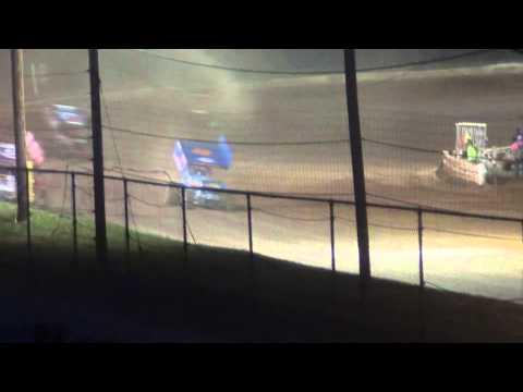 Susquehanna Speedway Park 410 and 358 Sprint Car Highlights 4-12-15