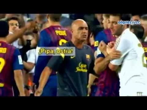 Pelea De  Barcelona Vs Real Madrid video
