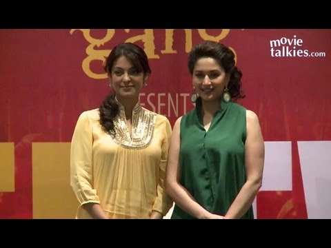 Madhuri Dixit, Juhi Chawla And Anubhav Sinha Promote 'Gulaab Gang' At 'Believe' Event