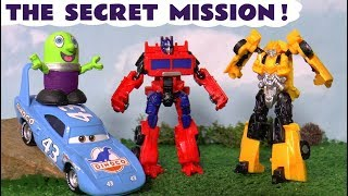 Funny Funlings meet Transformers Bumblebee and Optimus Prime on a secret mission with Cars TT4U