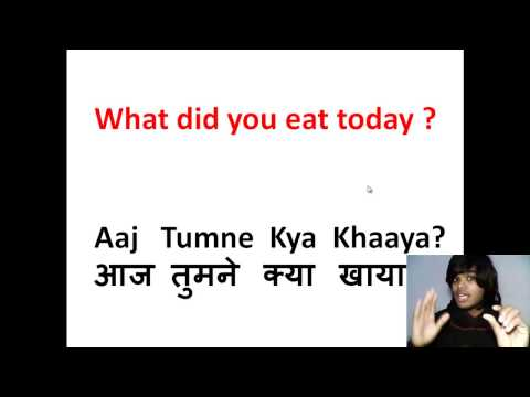 How to Learn Hindi 4 - Learn Hindi Verb, Words,Sentences - To Eat