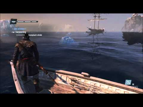 Assassin's Creed: Rogue - Harpooning Humpback Whale Gameplay [HD]