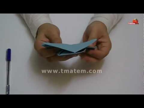 Origami Jumping Frog  -  كيفية عمل الضفدع النطاط بالأو�