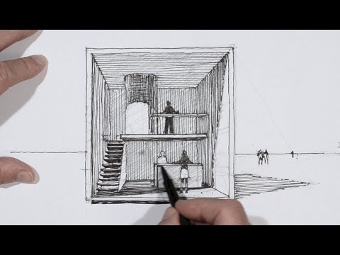 Dessiner en perspective un cube habit youtube - Dessiner une table de jardin ...