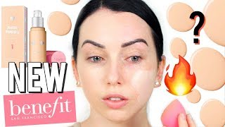 FLAWLESS?! NEW Benefit Hello Happy Brightening Foundation Review & Demo