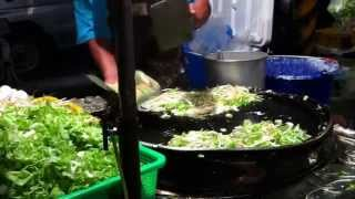 直擊!台南夜市蚵仔煎做法 Comment faire une omelette aux huîtres