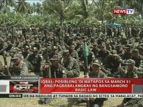 Iqbal: Posibleng 'di matapos sa March 31 ang pagbabalangkas ng Bangsamoro basic law
