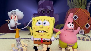 Minecraft | SAVING BIKINI BOTTOM SPONGEBOB - Spongebob Void Tsunami Apocalypse!