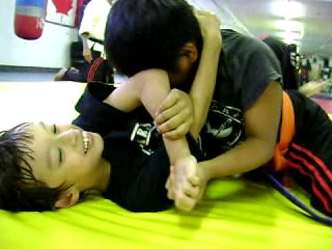 kids wrestling and grappling training on 