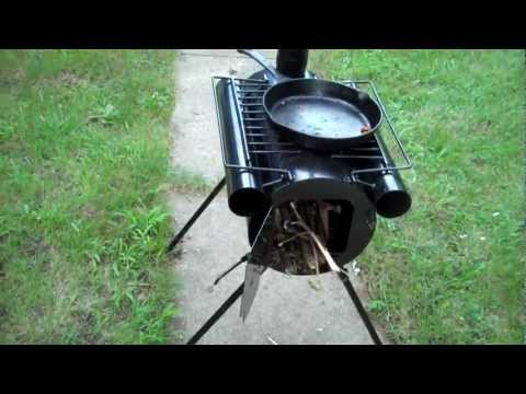 Starting a Wood Fire & Review of Camping Wood Stove