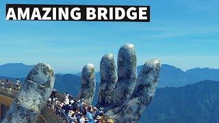 Golden Bridge on Ba Na Hills, Da Nang, Vietnam - Stunning Footage