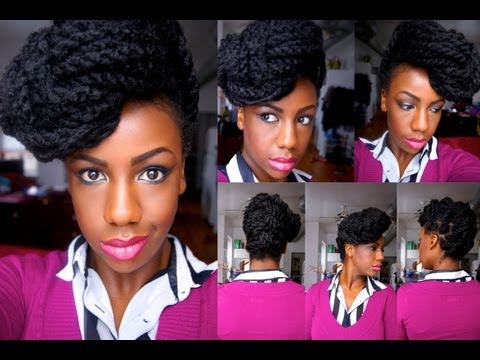 Havana Marley Twists Fishtail Braid Updo