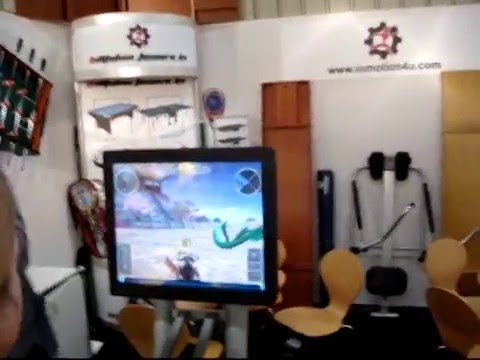 Video Game Fitness Fun Hometrainer Home Bike Trainer virtual reality bike fiets fietsen
