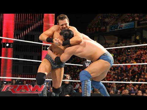 Damien Mizdow Vs. The Miz: Raw, April 20, 2015 video