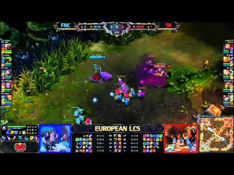 Fnatic vs SK Gaming  LCS 2013 EU Spring W5D2 FULL GAME