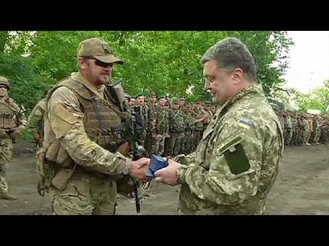 Ukrainian President awards medals to nationalist soldiers - no comment