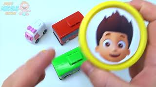 Сups Stacking Toys Play Doh Clay Little Bus Tayo Paw Patrol Robocar Poli Colors for Kids