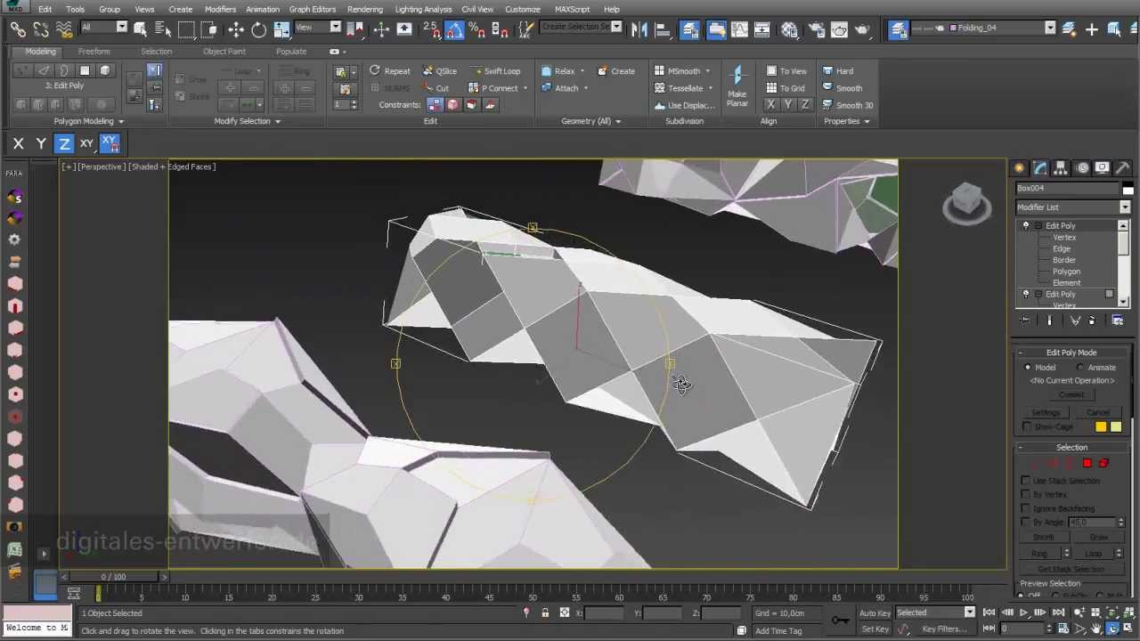 Folding 03 Folding Based On 3d Objects In 3ds Max Youtube