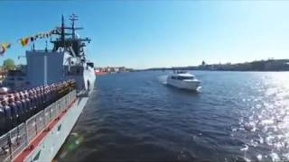 Naval Victory parade in St. Petersburg, May 9, 2015